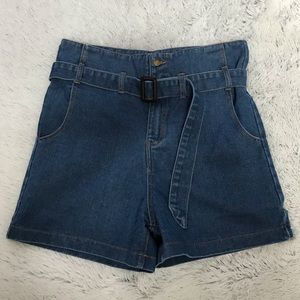 Women's Retro High Waist Denim Shorts Sz S